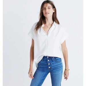 Madewell Central Shirt in Pure White